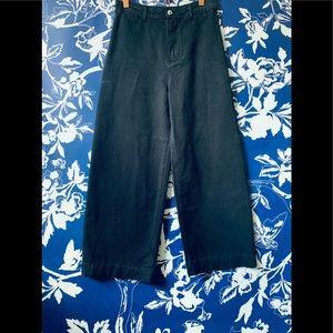 NWT Free People Patti Wide Leg Pants, Black, 27
